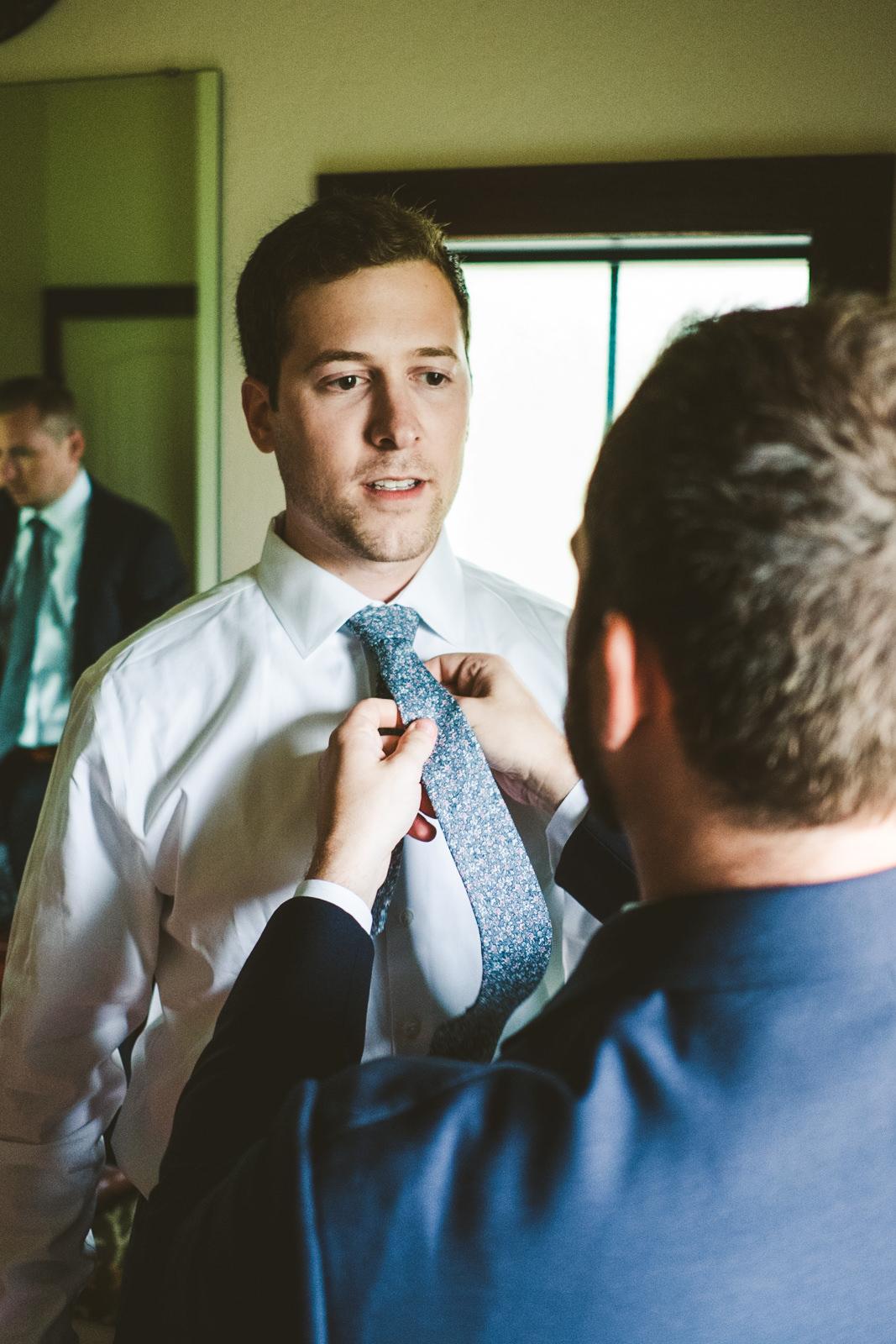 Groom on Wedding Day with Toledo Ohio Wedding Photographers at Gervasi Vineyard