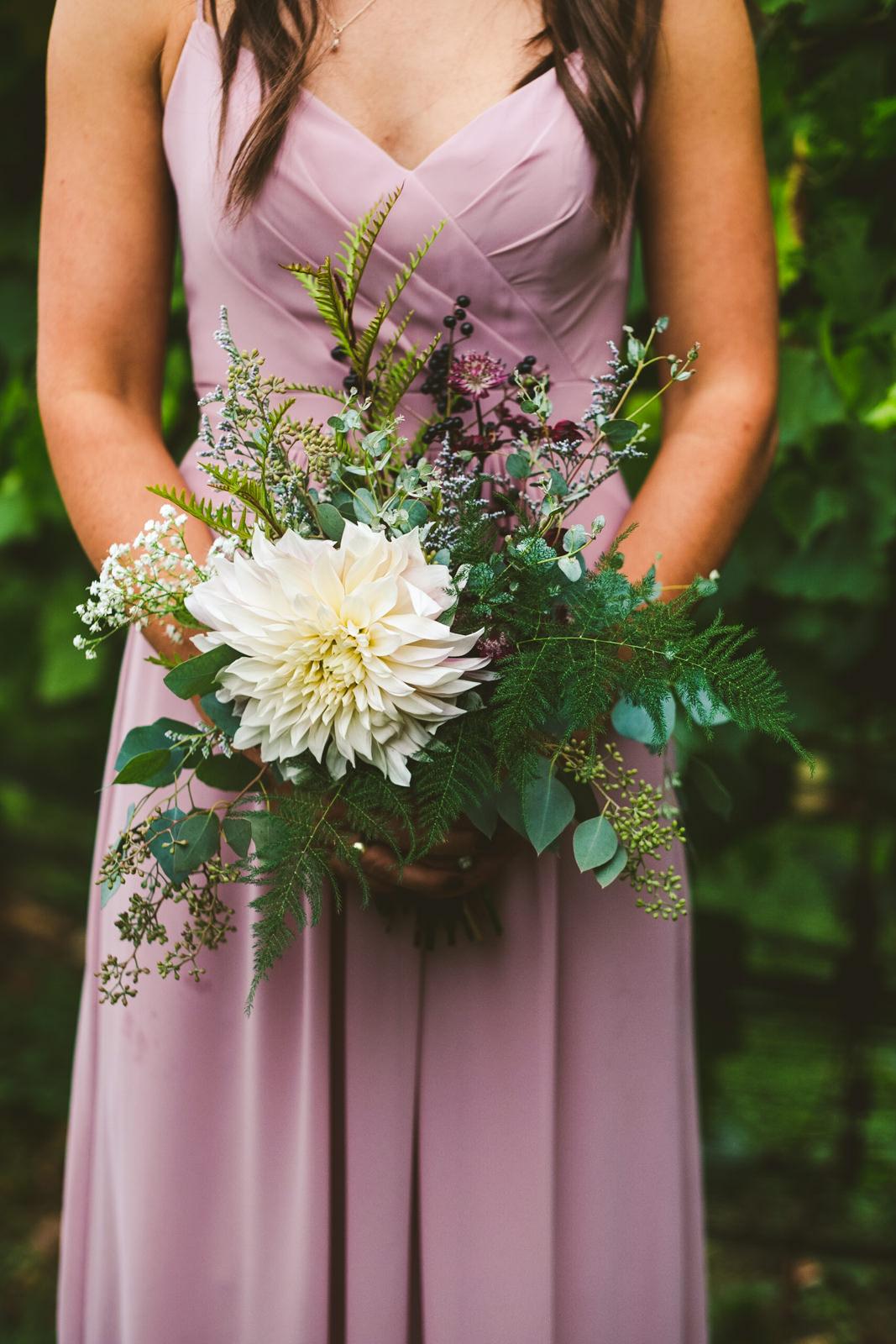 Toledo Ohio Wedding Photographers at Gervasi Vineyard with Bridesmaid on Wedding Day