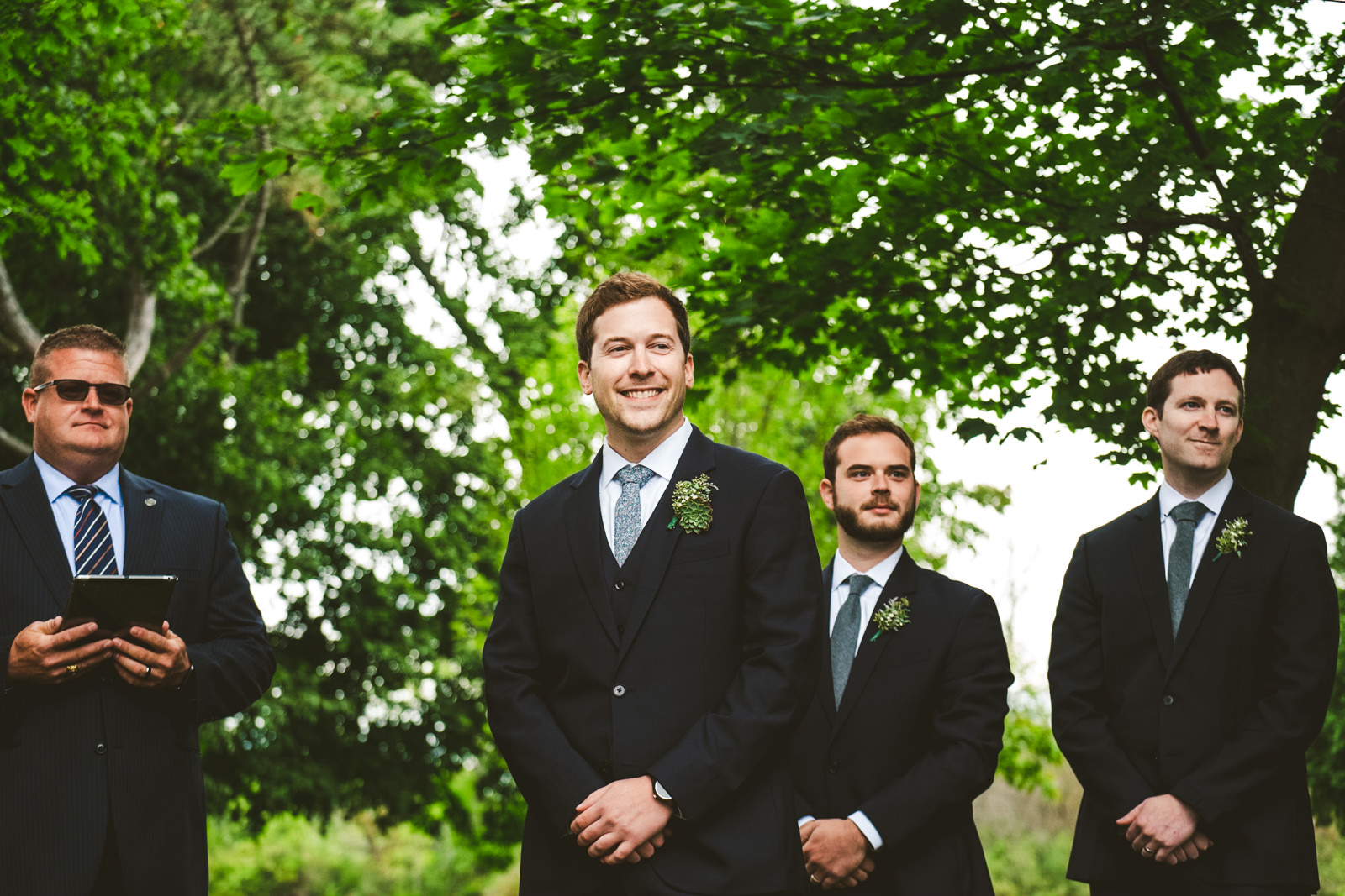 Gervasi Vineyard Outdoor Wedding Ceremony with Toledo Ohio Wedding Photographers in Cleveland