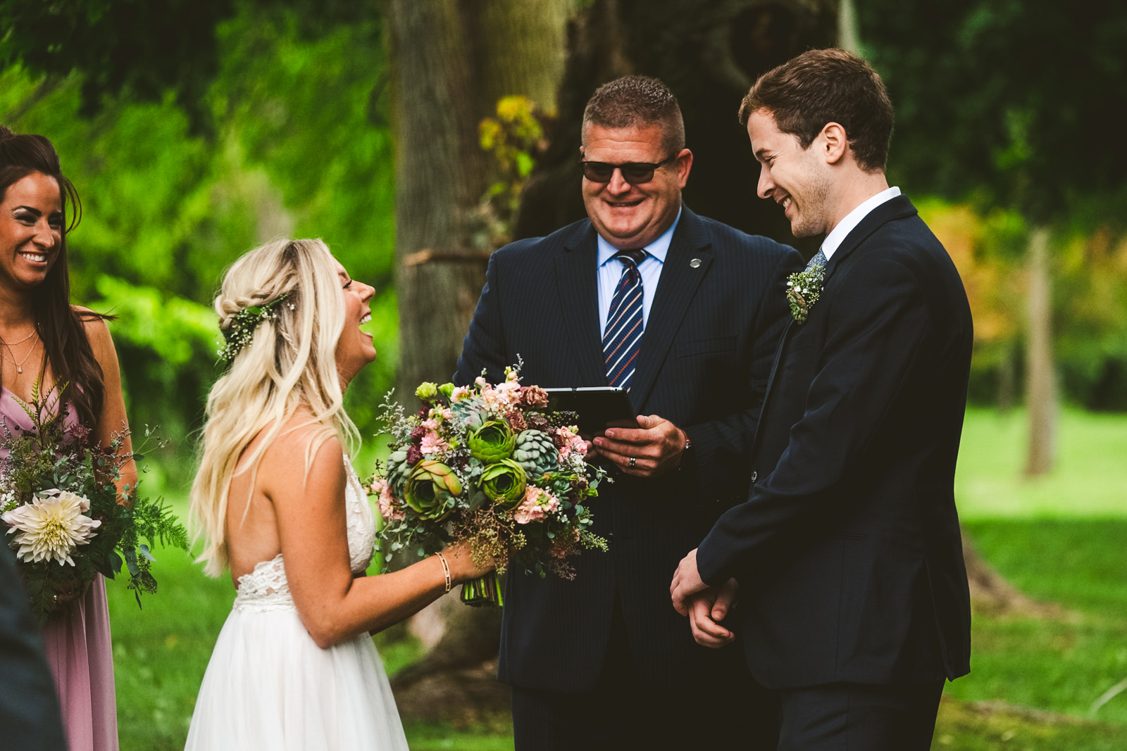 Outdoor Wedding at Gervasi Vineyard with Toledo Ohio Wedding Photographers in Cleveland
