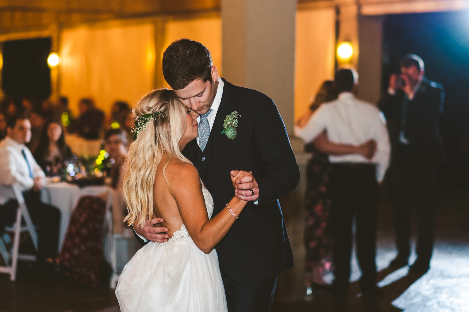 Cleveland Ohio Couple Shares First Dance with Toledo Wedding Photographers at Gervasi Vineyard for Wedding Day