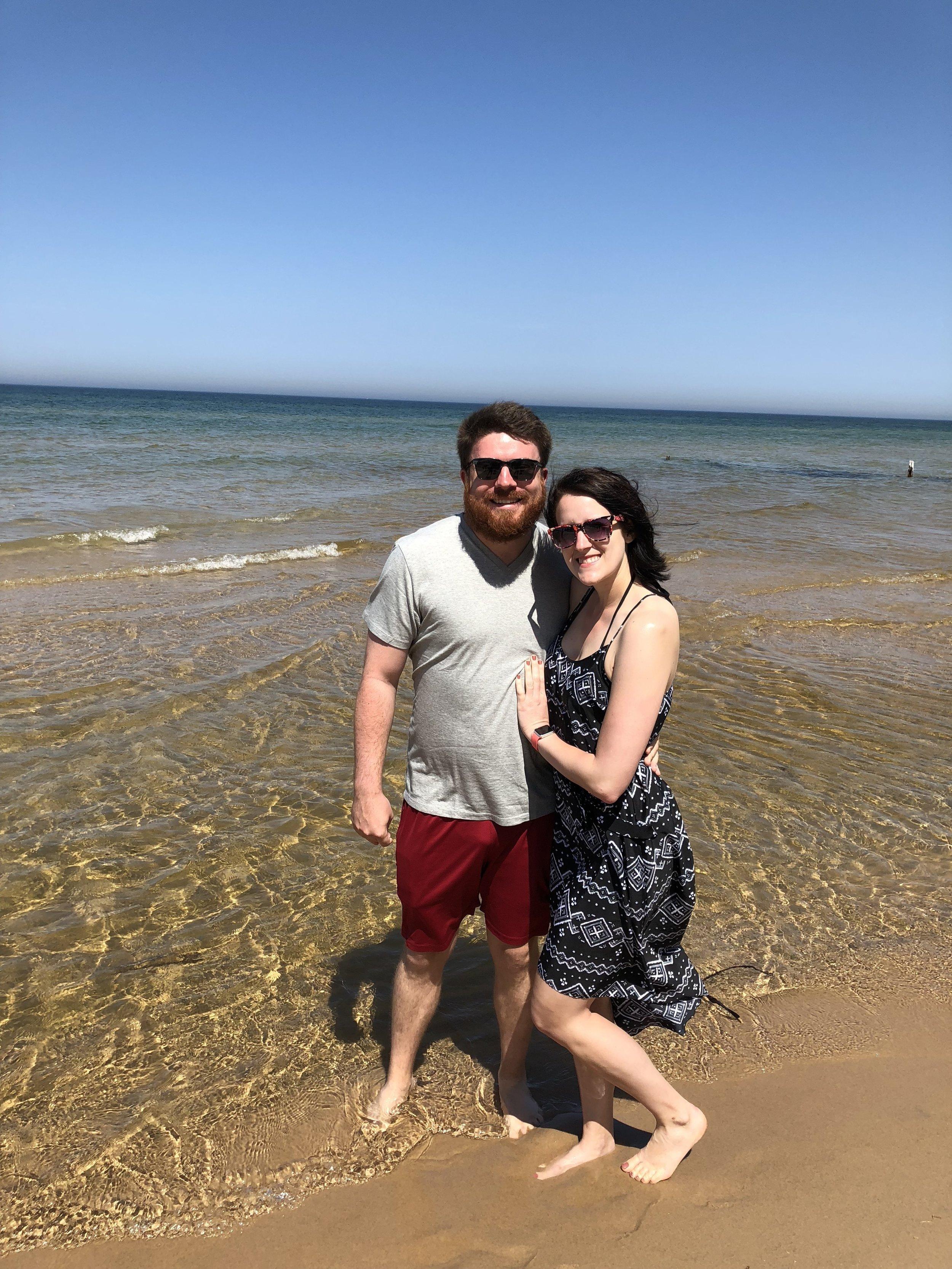 Ohio Wedding Photographers Travel to Muskegon for Destination Engagement Session