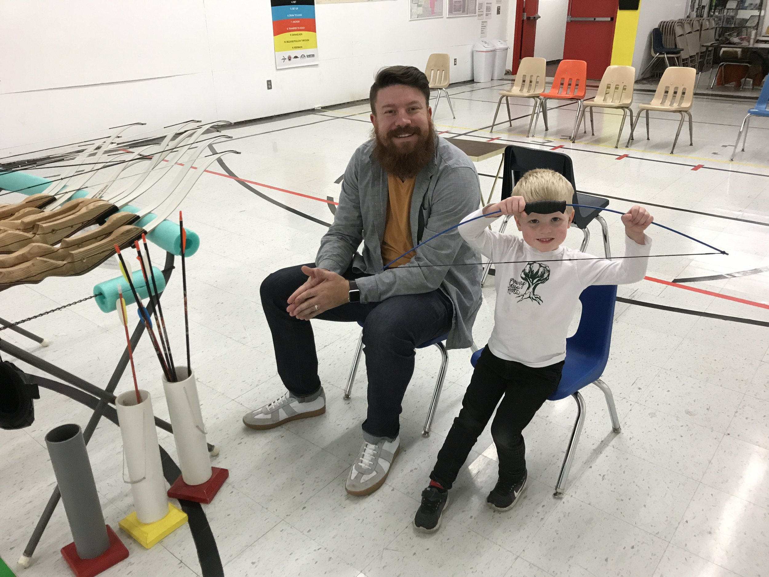 Toledo Photographer and Nephew at Archery Session