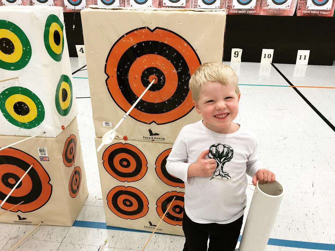 Toledo Photographers Take Nephews to Archery Lesson