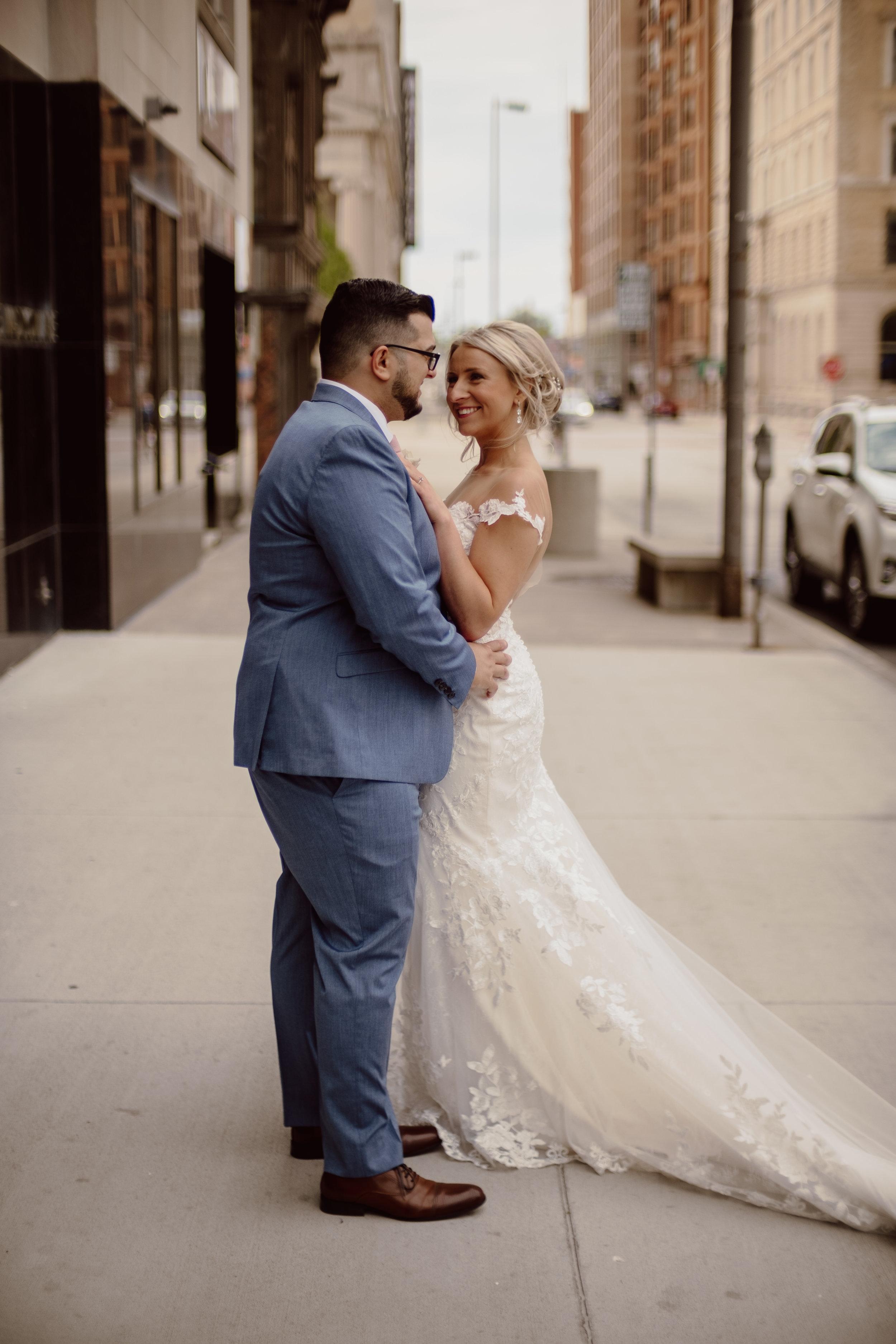 urban downtown wedding