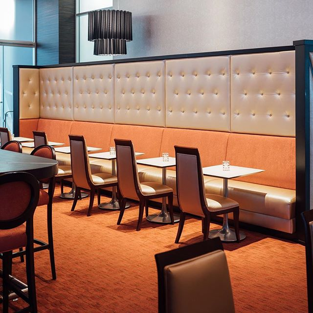 An oldie but a classic in design build seating #l #interiordesign #restaurantdesign  #restaurant #madeincincinnati  #banquette #customseat #customseating