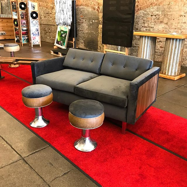 Look for us at Amoré @buildingvalue tomorrow night at Rhinegeist! We have this lovely set up for auction with proceeds going to @eastersealsgc workforce development programs.  P.S. it's made from reused and scrap materials from other projects and is super comfy😎
