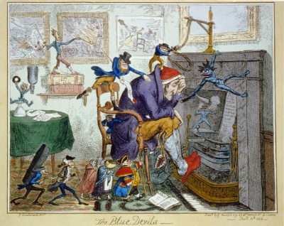 Cruikshank-The Blue Devils