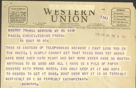Dorothy Parker's Telegram
