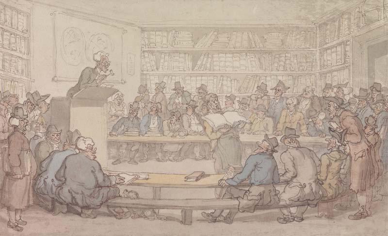 Thomas Rowlandson, A Book Auction