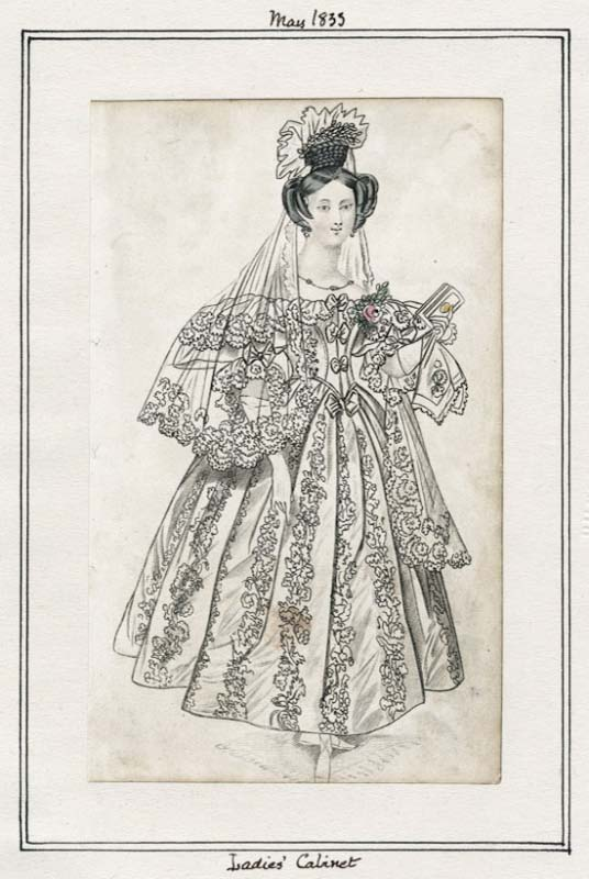 1833 Bridal Ensemble   that appeared in several ladies' magazines. This is what Olympia wore.