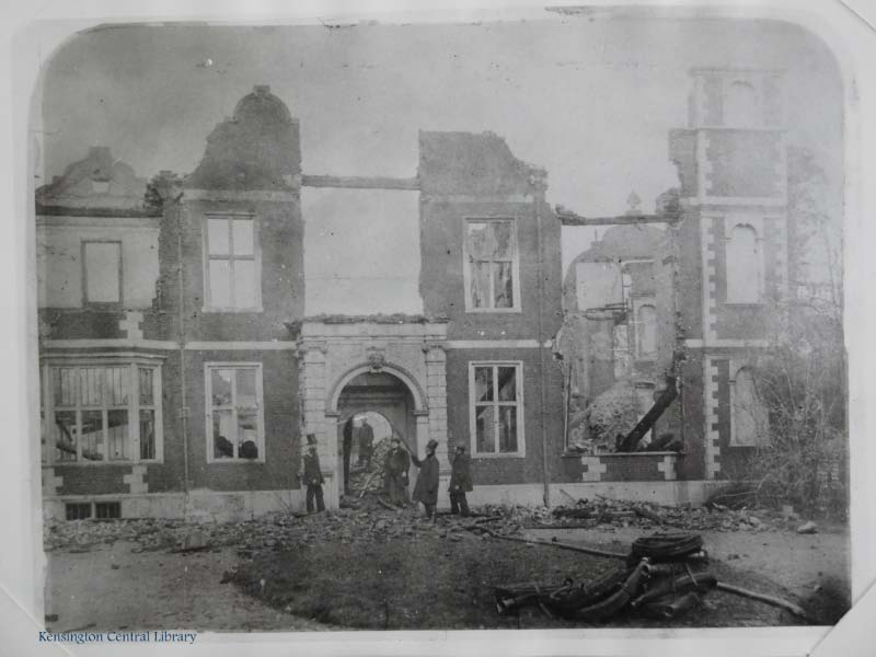Campden House after the fire.