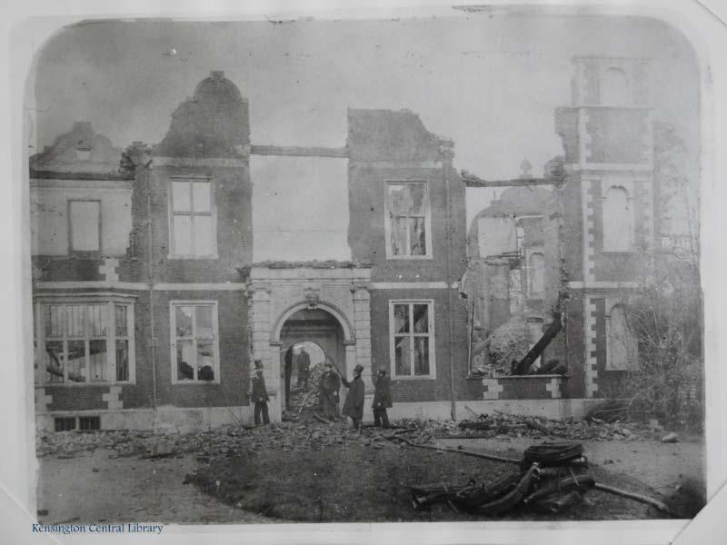 Campden House after the fire.
