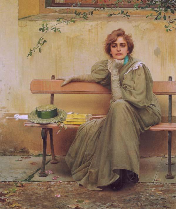Vittorio Matteo Corcos, Sogni (Dreams) 1896