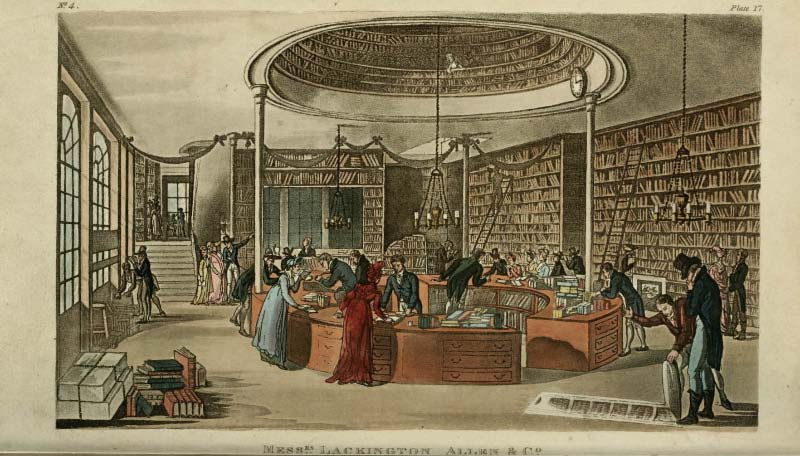 Temple of the Muses, Finsbury Square  , Ackermann's Rpository April 1809
