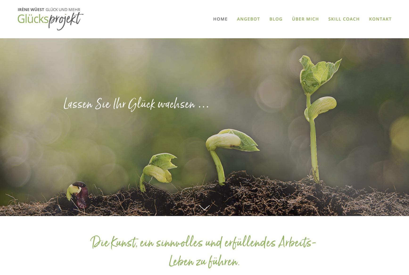 www.gluecksprojekt.ch - Webdesign & Portraits