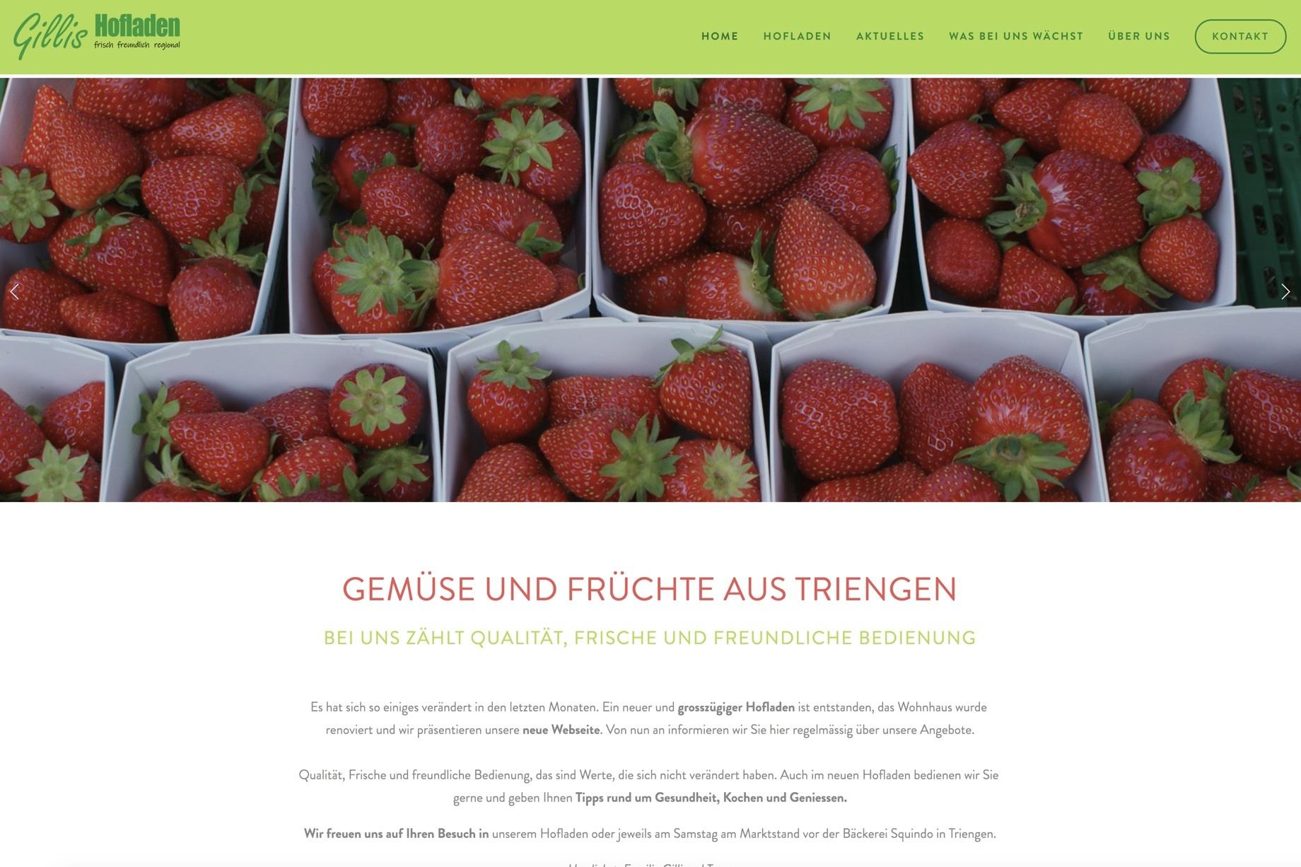www.gillis-hofladen.ch - Webdesign