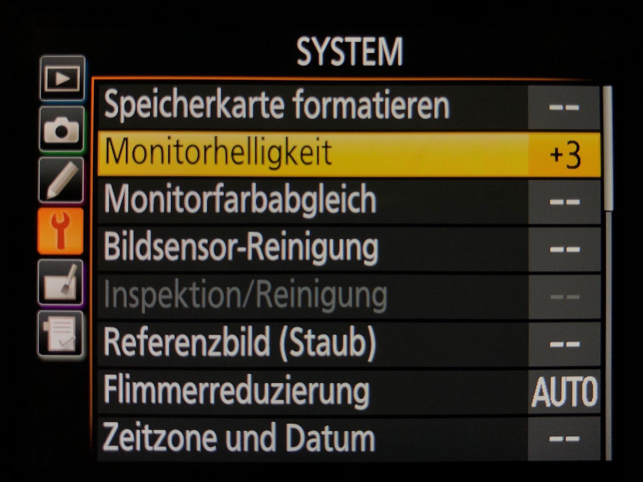 Monitorhelligkeit einstellen