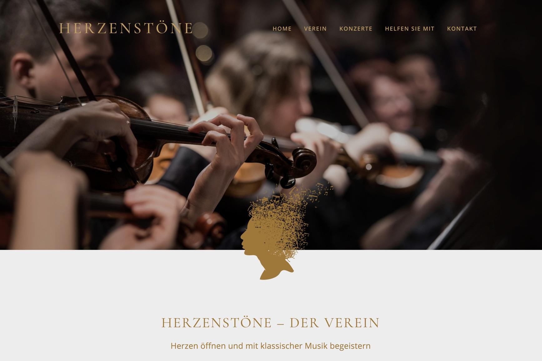 www.herzenstöne.ch - Webdesign