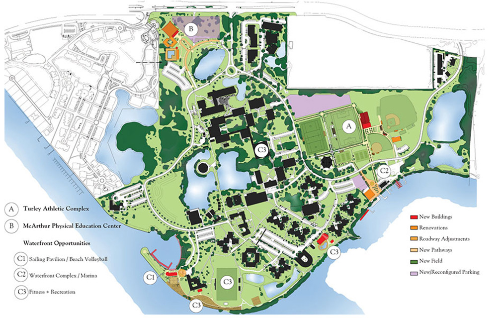 eckerd college campus map Eckerd College S3 Design Inc eckerd college campus map