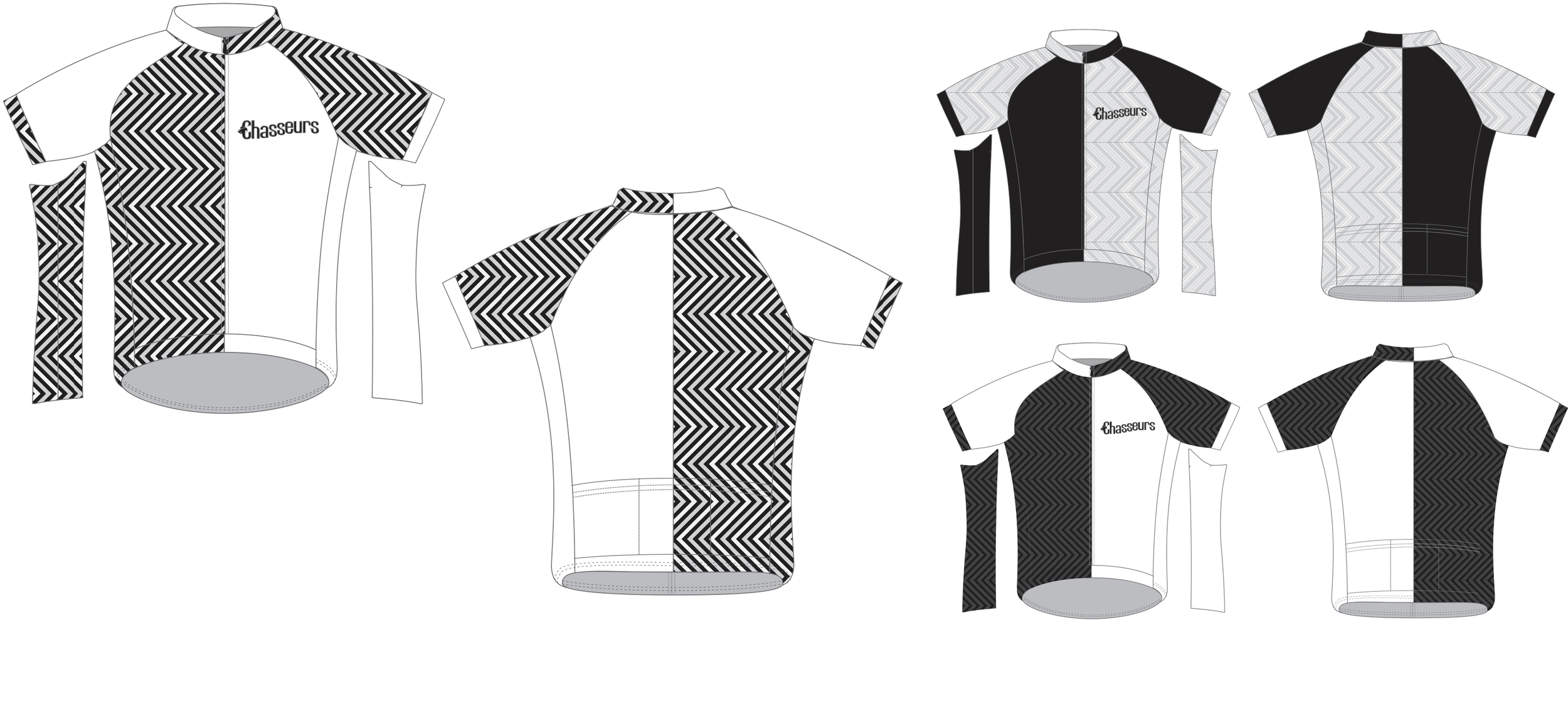 initial sketches for cycling kit top