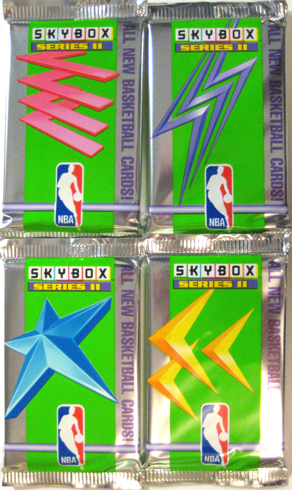 1991 Skybox Basketball Series 2 Pack: The companion to the Skybox Series 1. These have too beautiful a design to be ignored.