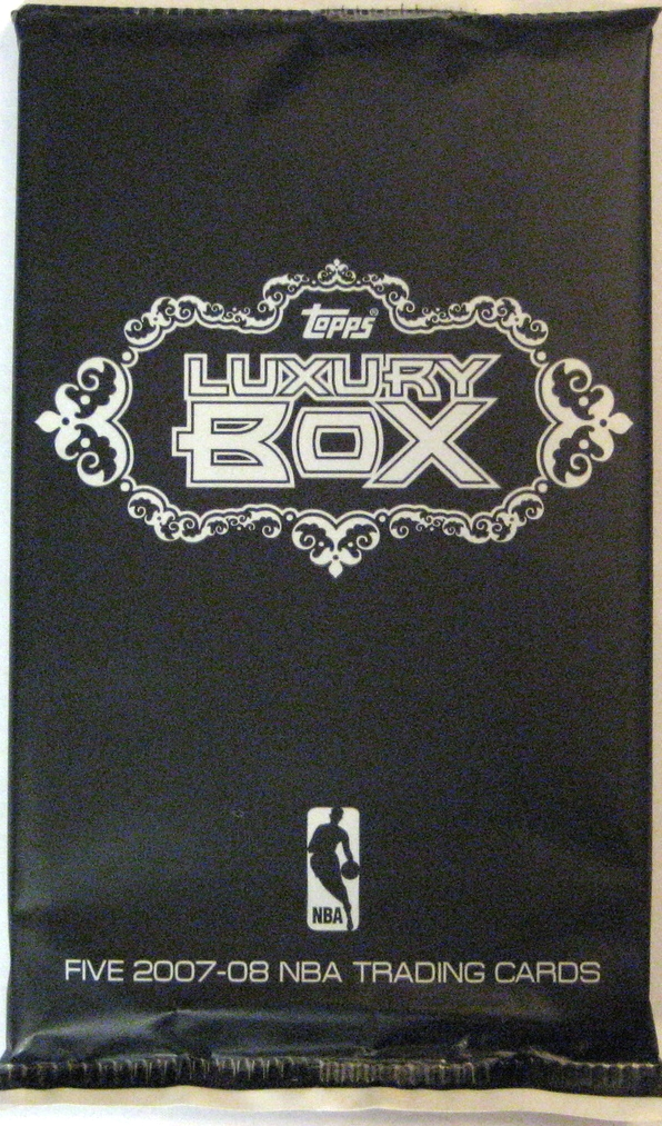 2007-08 Topps Luxury Box Basketball Pack: This pack is total simplicity, with a stark black and white style. Beautiful pack, if only a slight variation of the 2006-07 version.