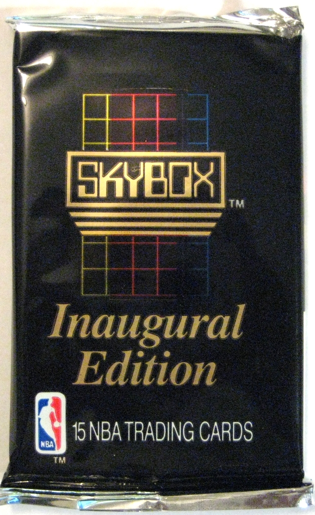 1990-91 Skybox Series 1 Basketball Pack: This is the inaugural edition of Skybox's cards. Skybox's first 5 years of existence marks some of the best-designed foil packs of all time. This is a fun, simple start.