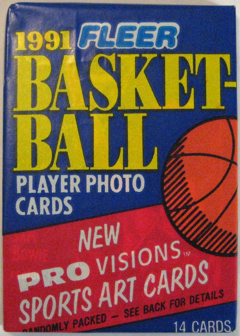 1991-92 Fleer Series 1 Basketball Pack: This is the last wax pack to be produced by Fleer, closing out the wax era. Not the nicest one, but an interesting one for that reason.