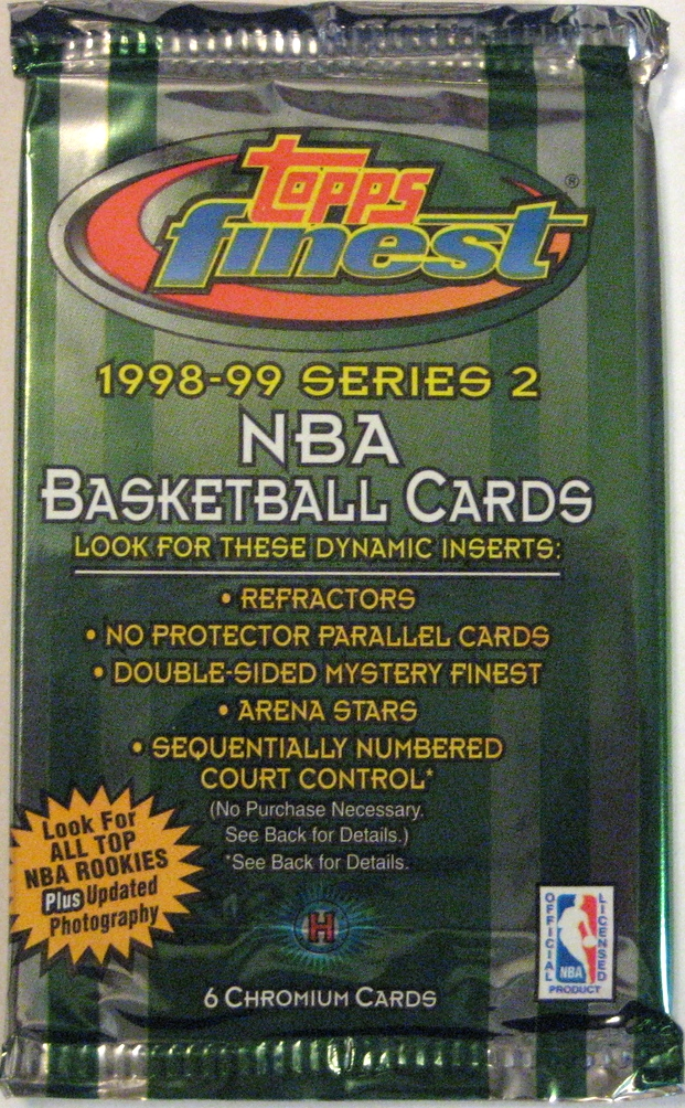 1998-99 Topps Finest Series 2 Basketball Pack: A Christmas-y companion to the Series 1 pack. Beautiful.