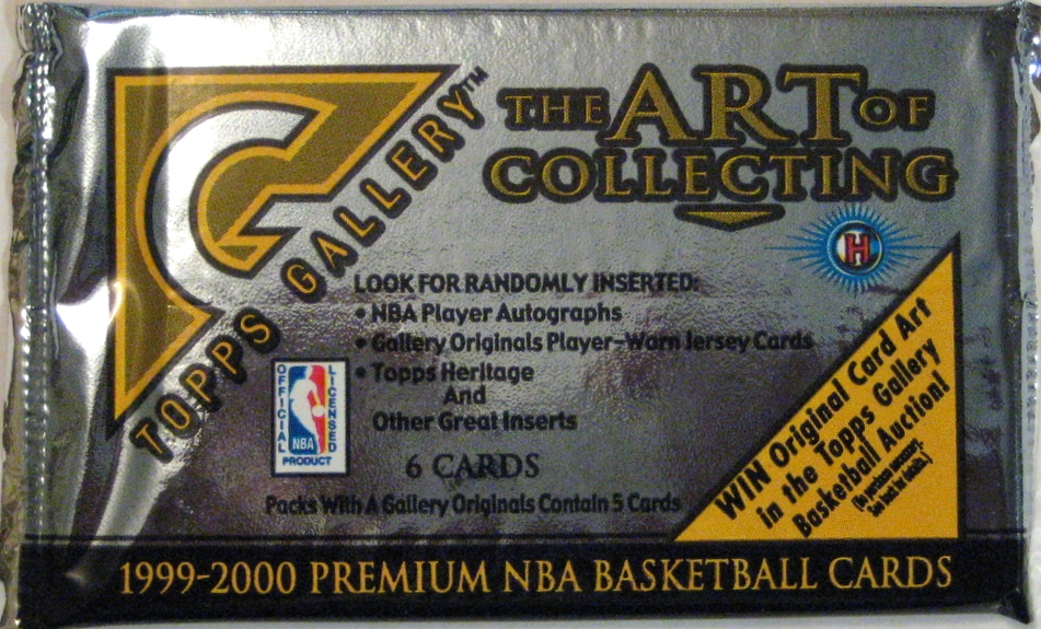 1999-00 Topps Gallery Basketball Pack: This pack could not fit another word on it. However, 1999-00 through 2001-02 are pretty weak years in terms of pack design.