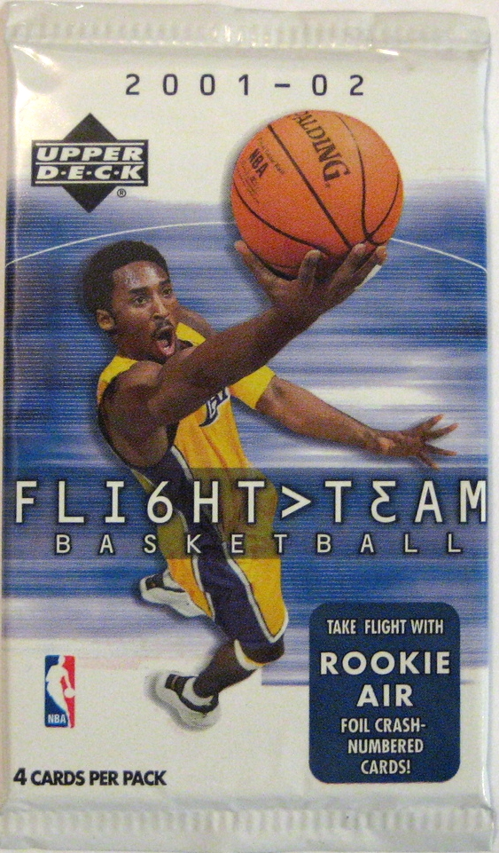 2001-02 Upper Deck Flight Team Basketball Pack: Another pack I bought sight-unseen. It's okay, but not the greatest. Not bad, however, because I collect a lot of Kobe cards. I'll take it over a Vince Carter pack.