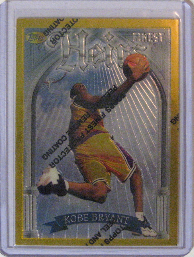 1996-97 Topps Finest Series 2 Kobe Bryant: Maybe my favourite Kobe card. I badly want the refractor of this bad boy.