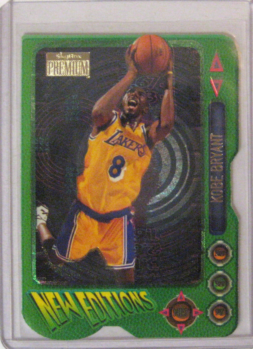 1996-97 Skybox Premium New Edition Kobe Bryant: This is maybe one of my favourite Kobe cards. Nothing screams 90s more than this.
