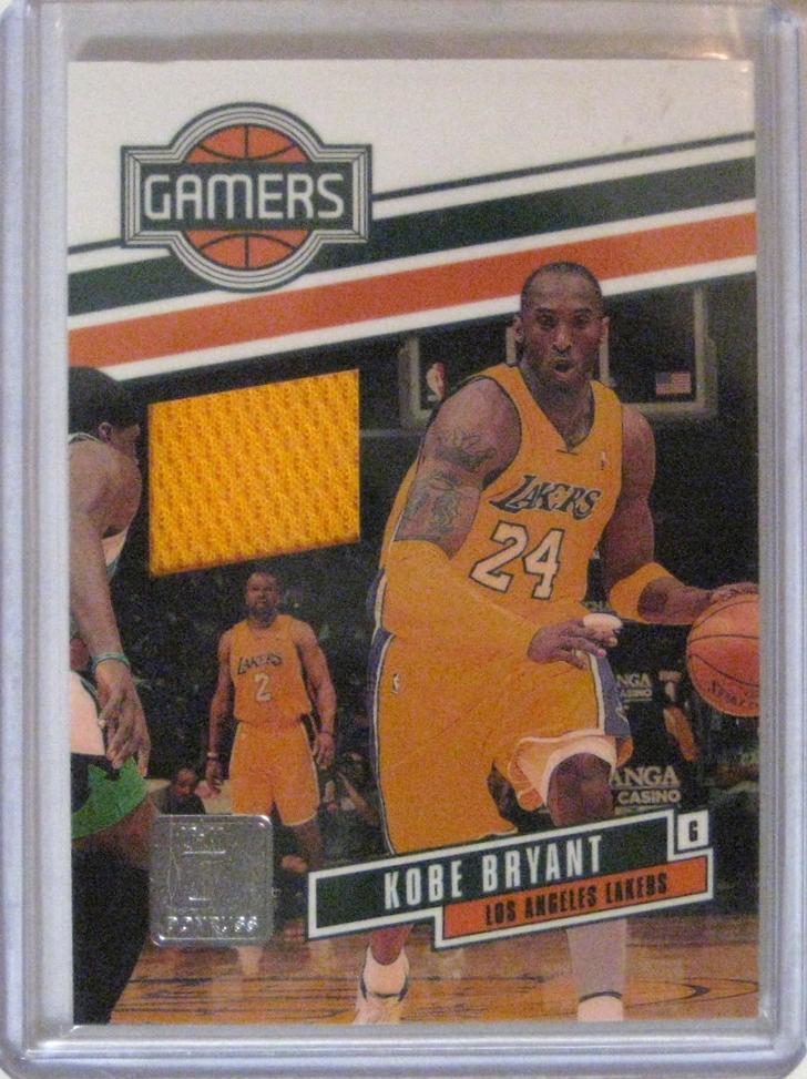 2010-11 Donruss Gamers Materials #/299 Kobe Bryant