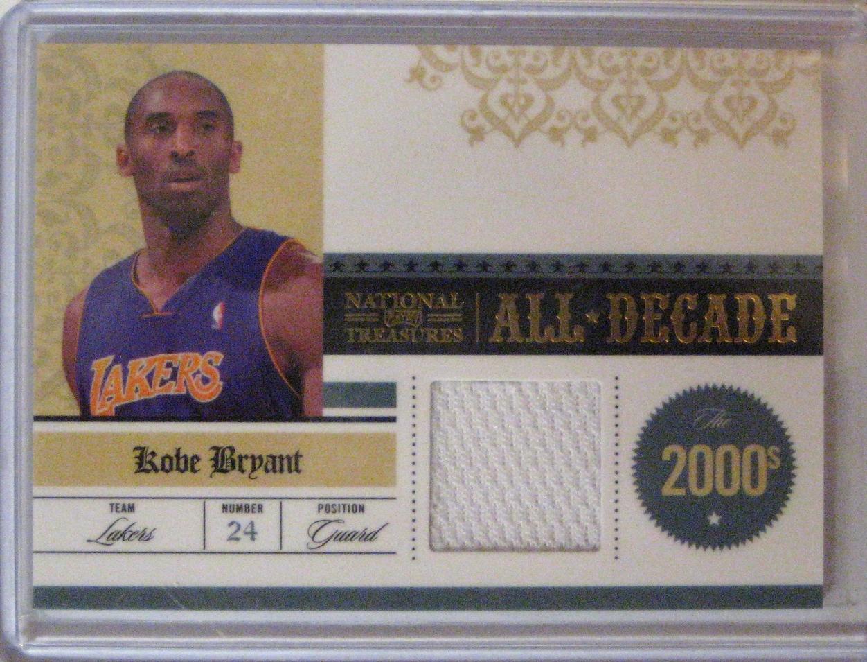 2009-10 Playoff National Treasures All Decade Materials Kobe Bryant #/99