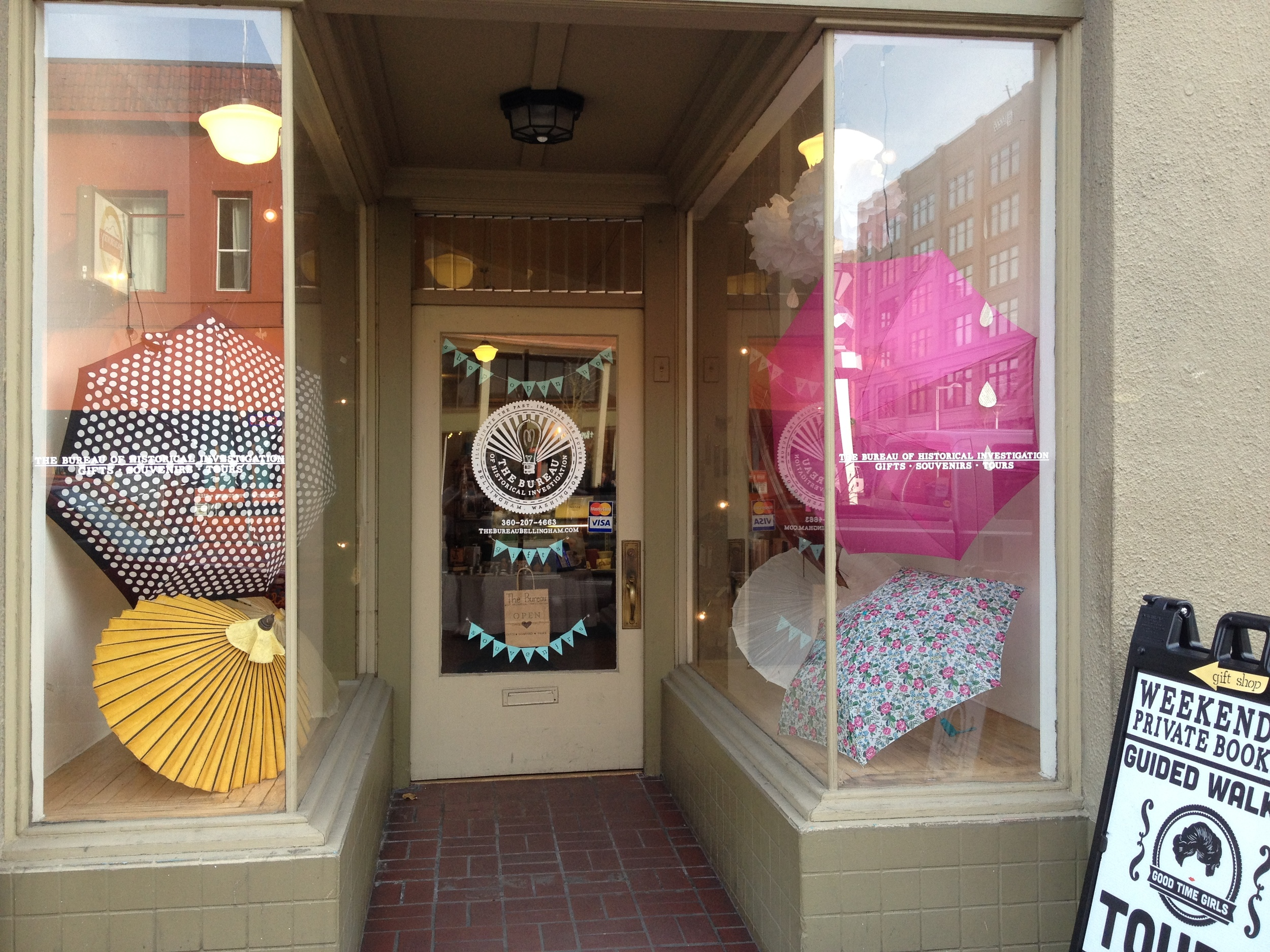 Our little shop at 217 W. Holly, in downtown Bellingham, Washington!