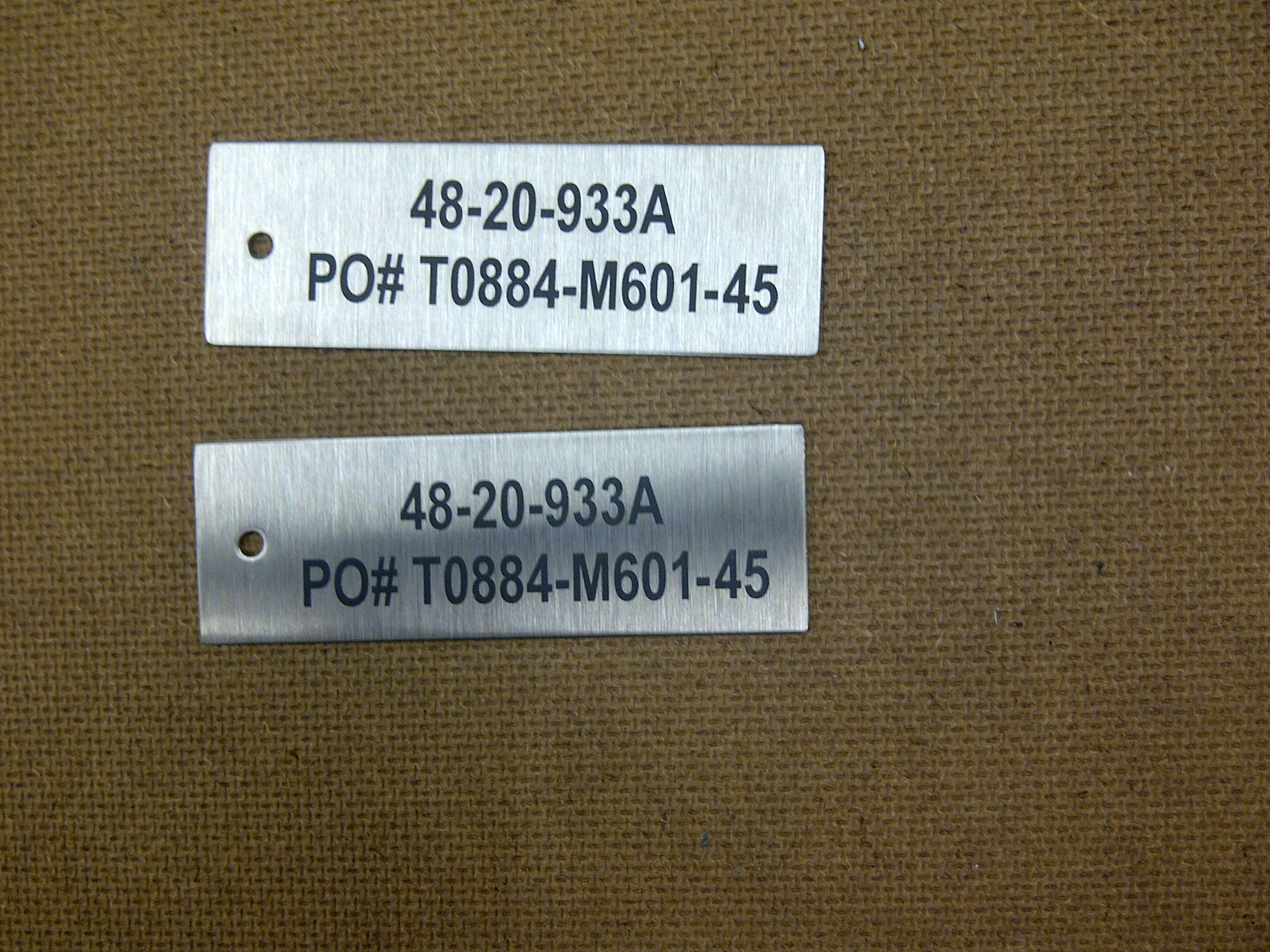 Stainless Steel Equipment Tags