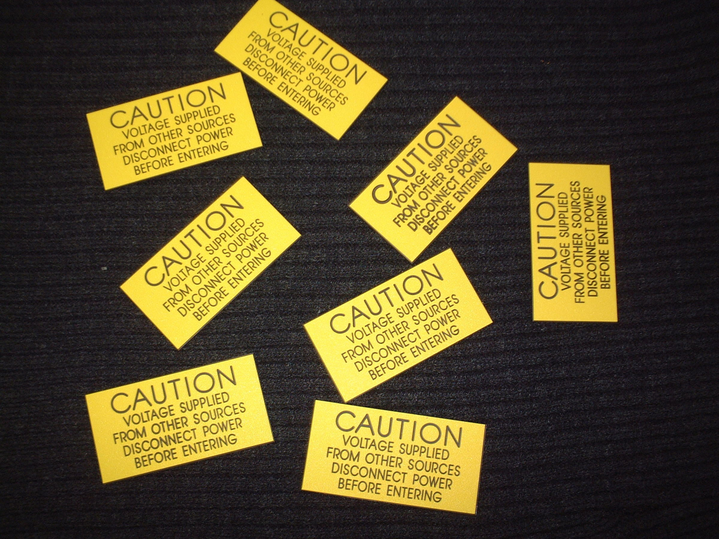 Yellow Caution Tags