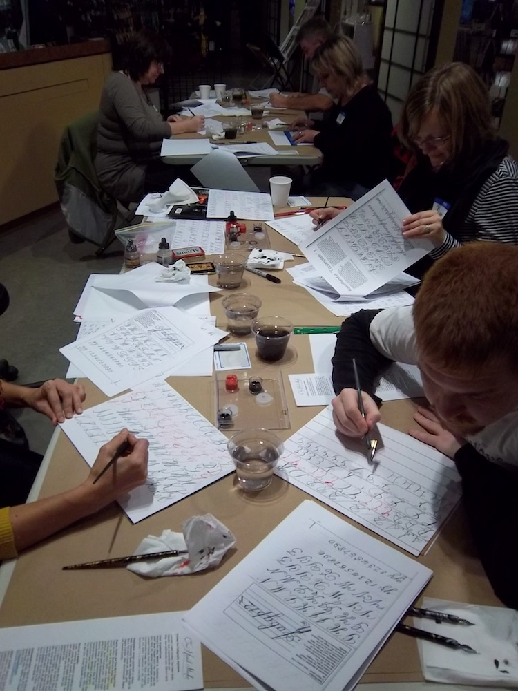 Calligaphy Class at Venue Seattle Fall 2013.jpg