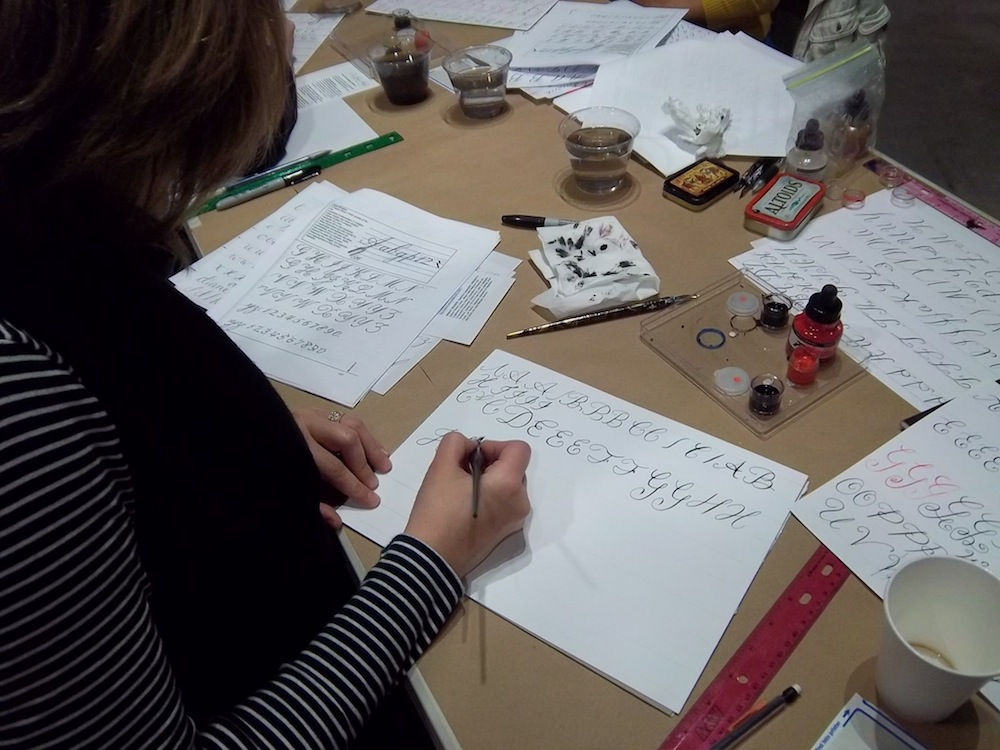 Calligraphy Class Seattle Venue student3 2013.jpg