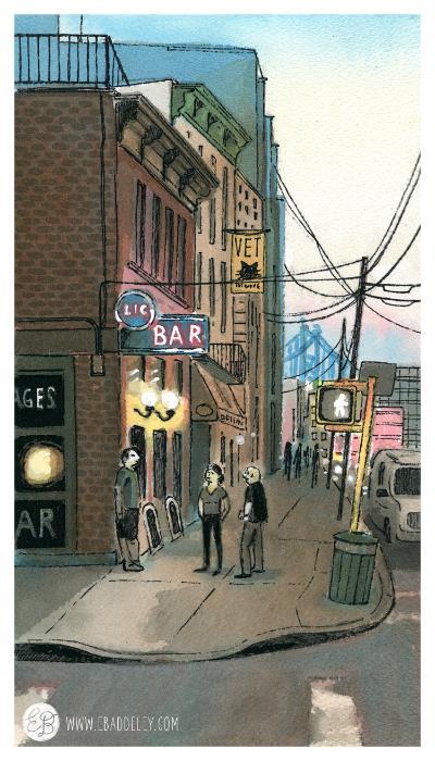 a bar in Long Island City, Queens