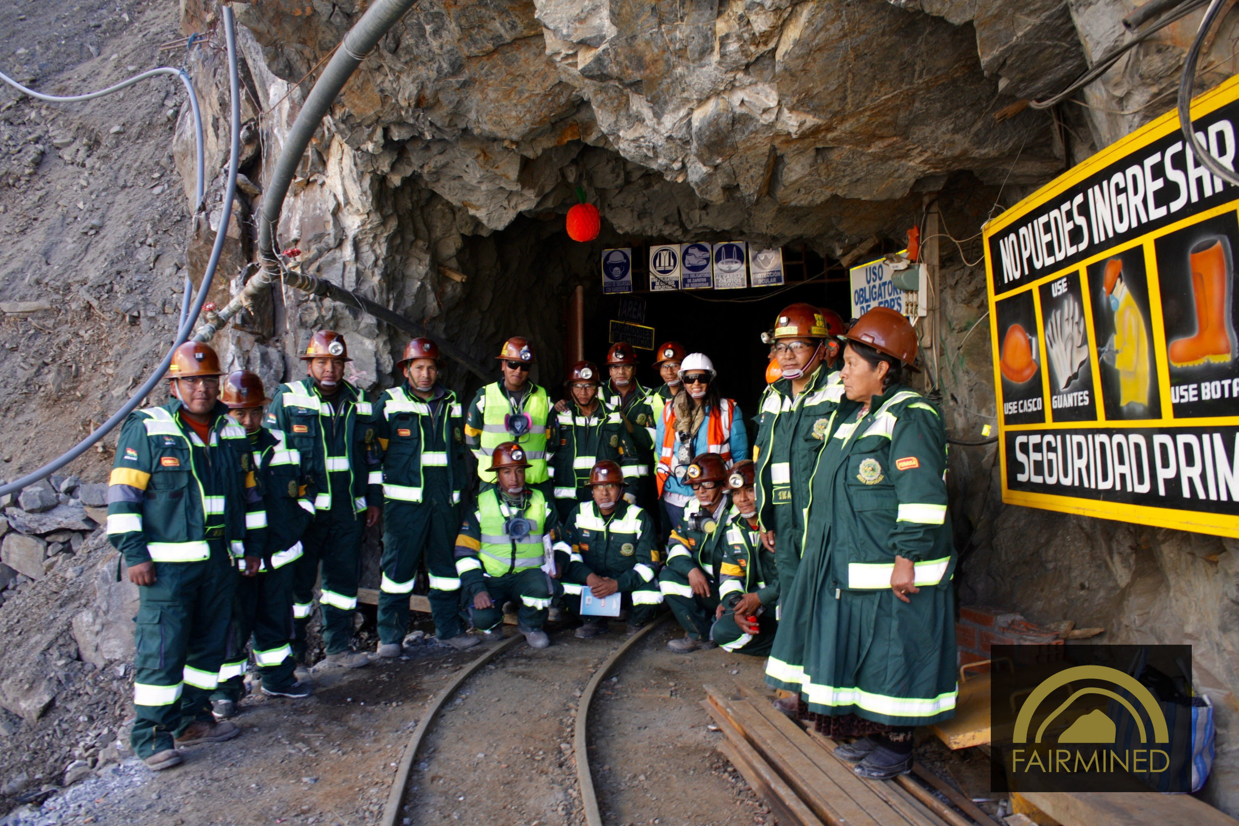 Workers of the mine 15 De Agosto in Bolivia.