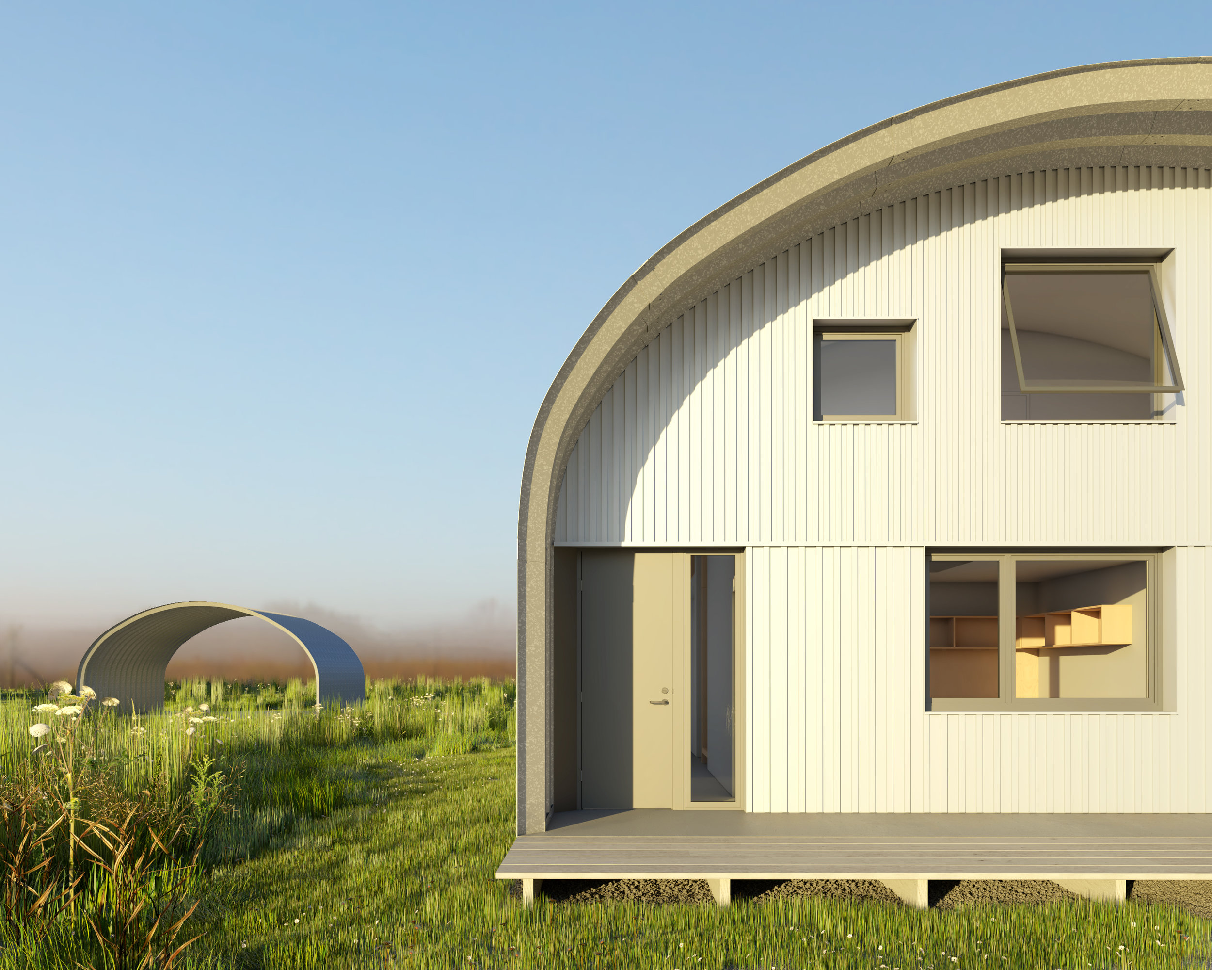 Quonset Hut Home - Exterior View