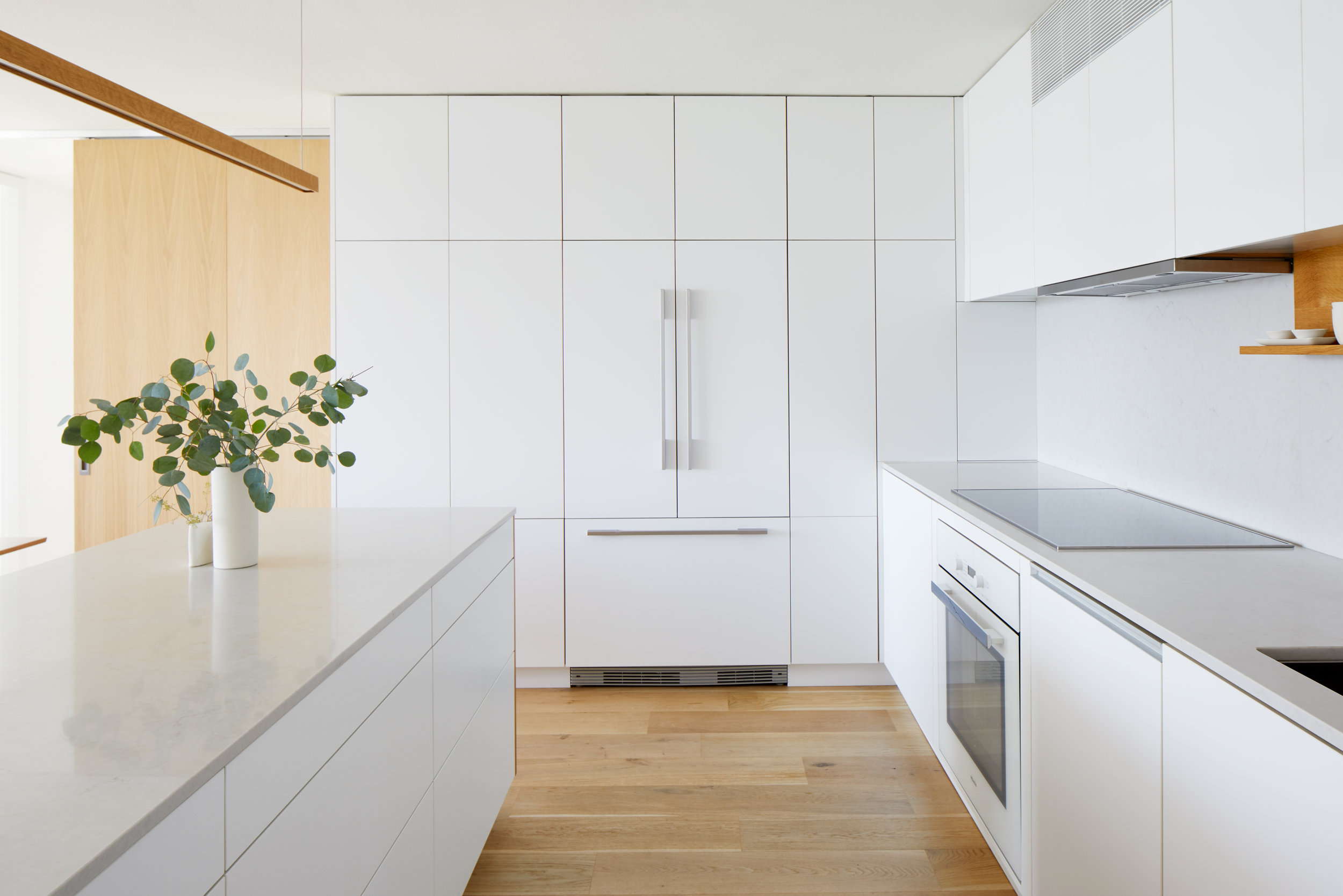 White / Oak Kitchen - Apartment Renovation, Chicago