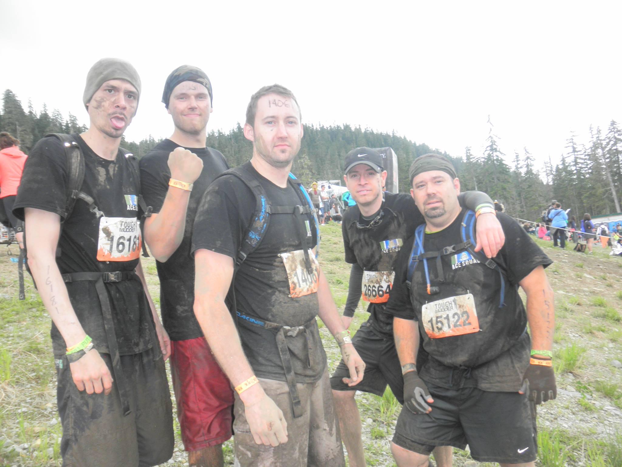 Dave Bone with his Tough Mudder team