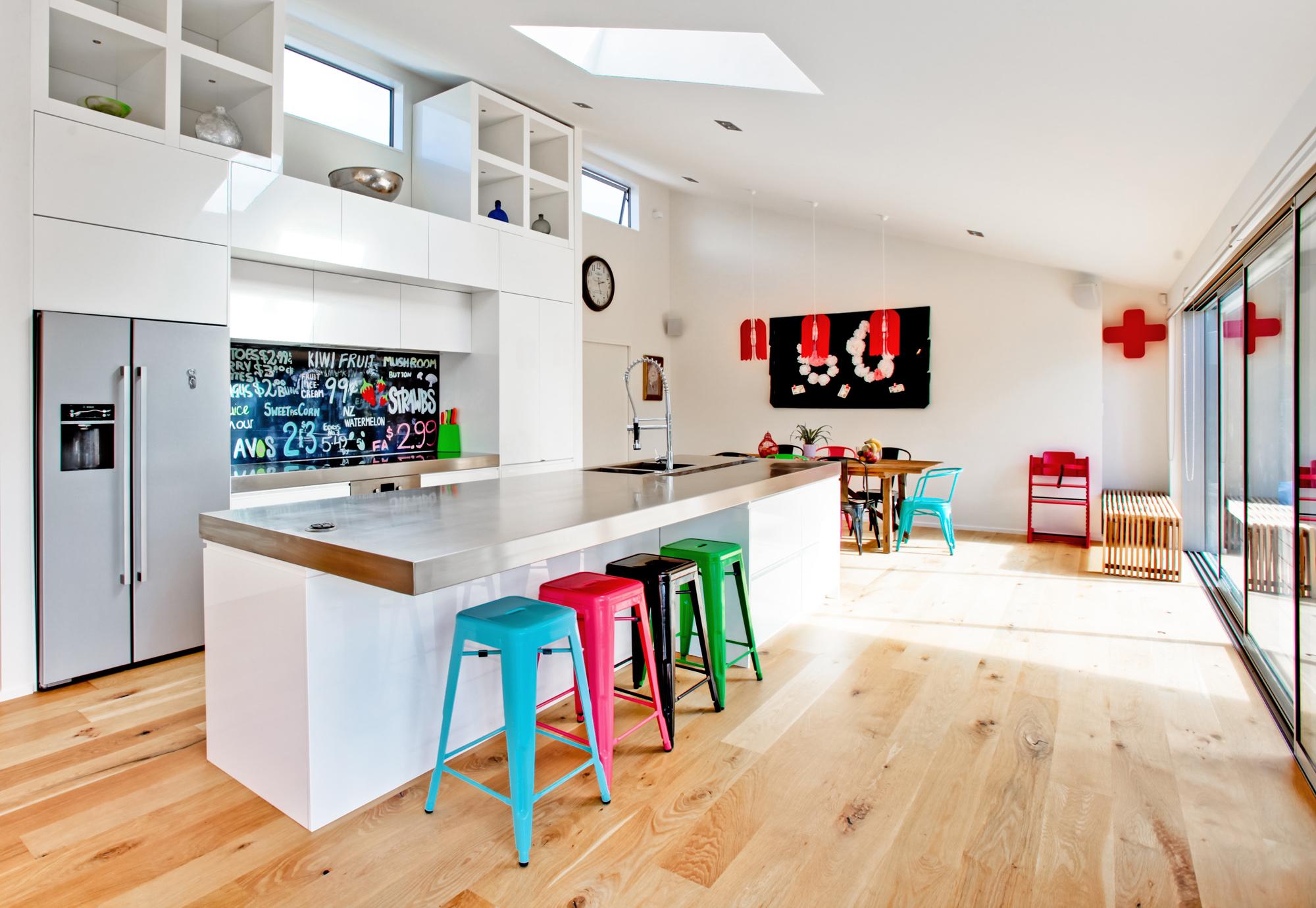 Printed 'image on glass' kitchen splashback by Lucy G