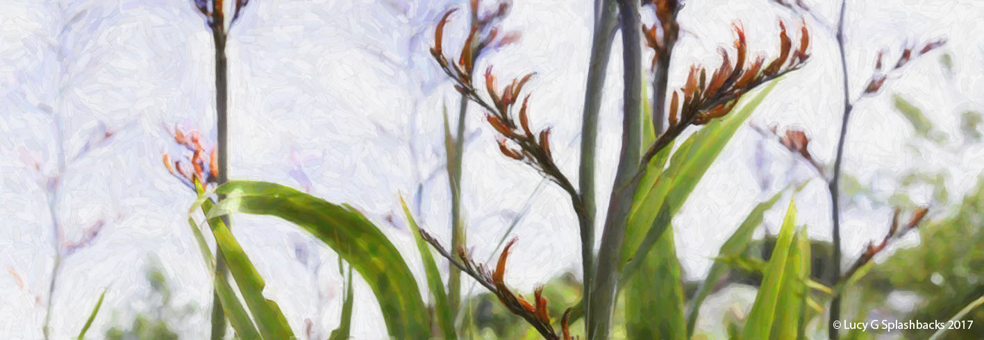 NAT 2016-5 (Digital painting) Flax Flower 1