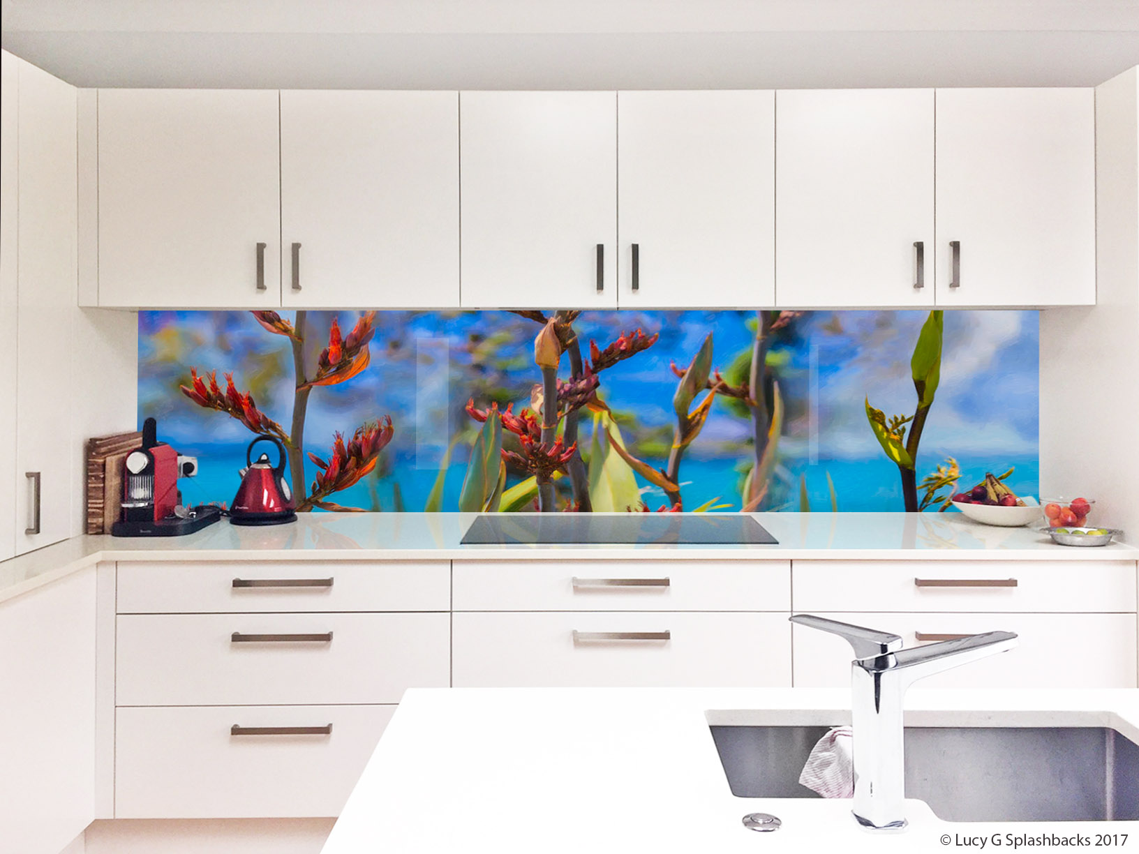 Flax Buds  lucy g printed image on glass splashbacks