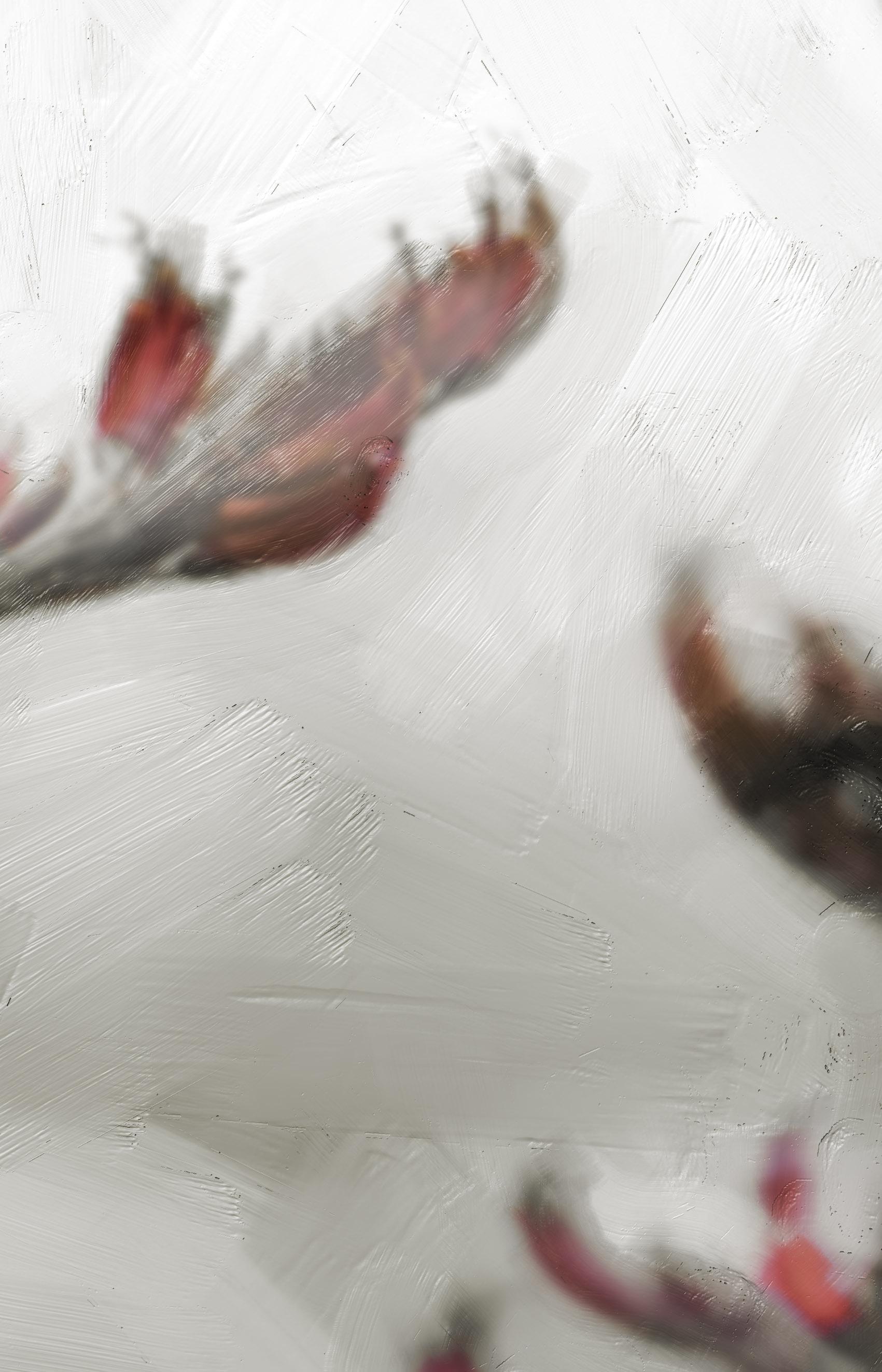 'MINIMALIST FLAX' SEPIA (digital painting) printed image on glass splashback - detail